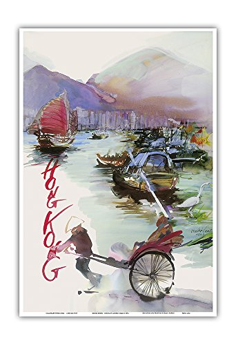 hong-kong-china-sas-scandinavian-airlines-system-rickshaw-junk-sail-boats-vintage-airline-travel-pos