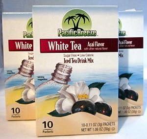 Pacific Breeze White Tea Acai Flavor 3 Boxes - 10 Packets