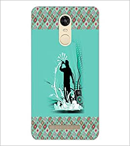PrintDhaba Music D-3264 Back Case Cover for XIAOMI REDMI NOTE 3 (Multi-Coloured)