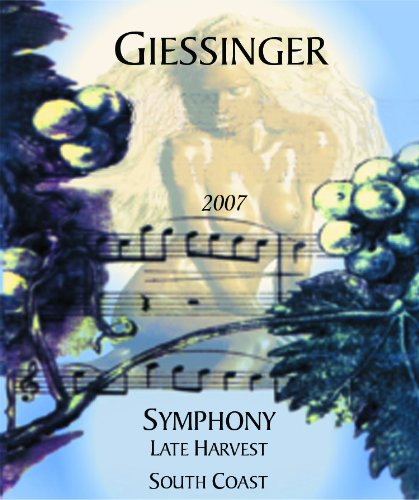 2007 Giessinger Symphony Late Harvest Dessert White, Organically Grown, South Coast 500 Ml