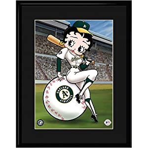Oakland Athletics MLB Betty On Deck Collectible by Toon Art