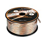 Aurum Cables 14 Gauge Transparent PVC Speaker Wire w/ ft markings every 5 ft - 200 feet