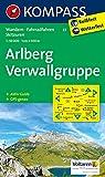 Arlberg - Verwallgruppe: Wanderkarte mit Aktiv Guide, Radrouten und alpinen Skirouten. GPS-genau. 1:50000 (KOMPASS-Wanderkarten)