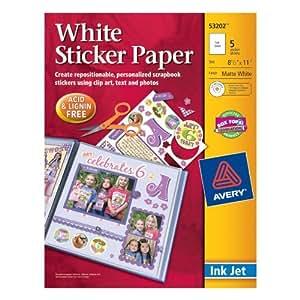 Amazon.com : Papel adhesivo, 8, 5 x 11 pulgadas, Blanco, Pack de 5