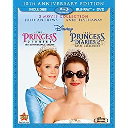 Princess Diaries: Two-Movie Collection (Three-Disc Combo Blu-ray/DVD Combo in Blu-ray Packaging)