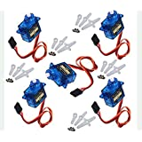 Chenbo(Tm) 5 Pcs Mini Sg90 Micro 9g Servo For 450 Rc Helicopter Airplane Car Boat