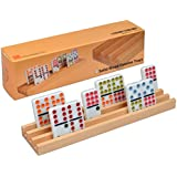 Premium Beech Wood Domino Racks / Trays - Set of 4