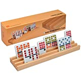 YMI Wooden Domino Racks / Trays - Set of 4