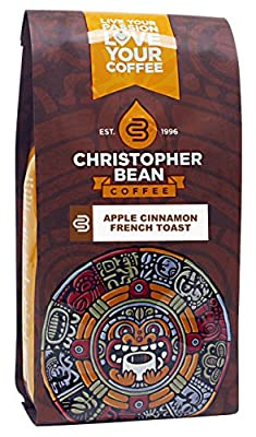 Christopher Bean Coffee Apple Cinnamon French Toast Whole Bean Coffee, 12 Ounce