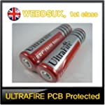 2 x ULTRAFIRE 18650 PROTECTED 3.7V 30...