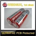 2 x ULTRAFIRE 18650 PROTECTED 3.7V 30...