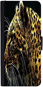 Snoogg Neon Tiger Designer Protective Phone Flip Case Cover For Micromax Canvas Juice 2