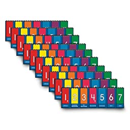 Nasco TB25013T Place Value to Millions/Decimal Tabletop Student Flip Chart Set, 3-1/2 x 11-3/4\