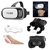 #6: Jt Newest 3D Vr Box, With Bluetooth Controller, Virtual Reality Headset Version 2.0 . 3D Glasses Adjust Cardboard Vr Box For 3.5~6.0