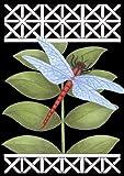 Toland Home Garden Dragonfly Garden Flag, Black 112059