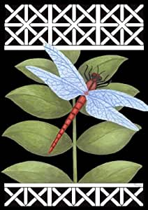 Toland Home Garden Dragonfly on Black 12.5 x 18-Inch Decorative USA-Produced Garden Flag