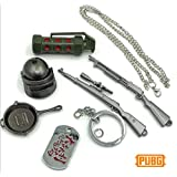 S Party Supply S.P.S PUBG Alloy Metal Weapons Gear Box Keychain Necklace Collection 6pcs