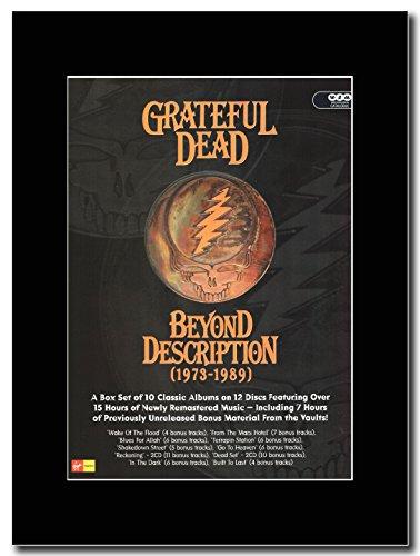 Grateful Dead-Beyond descrizione 1973-1989 Magazine Promo su un supporto, colore: nero