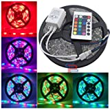 5M Water Proof Smd Strip Led Light With Changer,Remote & Adaptor, Multi-Color