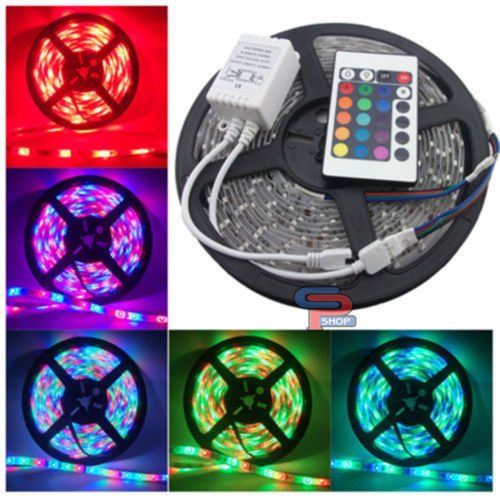 5M-Water-Proof-Smd-Strip-Led-Light-With-ChangerRemote-Adaptor-Multi-Color