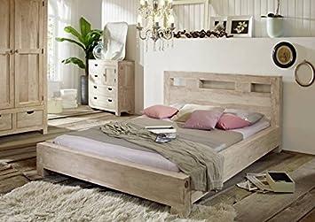 De madera de acacia maciza madera maciza pan armario muebles Nature White #62
