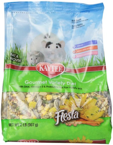 Kaytee Fiesta Small Animal Food for Mice and Pet Rats, 2-Pound (Mouse Food compare prices)
