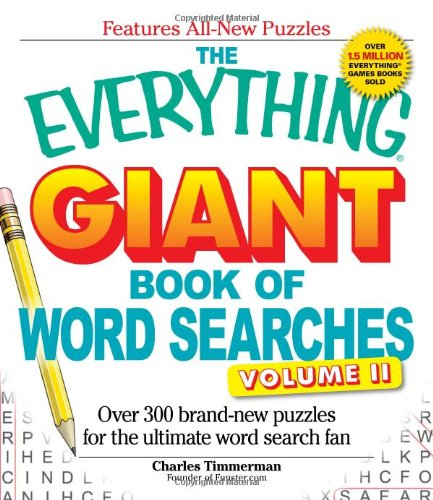 The Everything Giant Book Of Word Searches Volume Ii: Over 300 Brand-New Puzzles For The Ultimate Word Search Fan front-1060873