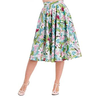 Hell Bunny Rock FLAMINGO 50'S SKIRT multi 4XL