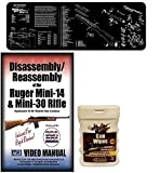 American Gunsmithing Institute DVD Disassembly & Reassembly Course Ruger Mini-14 & Mini-30 Rifles + Ultimate Arms Gear Gunsmith & Armorer's Cleaning Bench Gun Mat + Gun Wipes Patches Oil Pop-Up