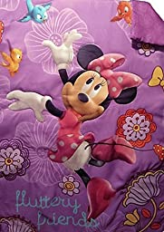 Disney Minnie Mouse Fluttery Friends Toddler Bed (COMFORTER ONLY) Kids Bedding