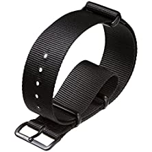 buy G10 Uk Mod Nylon Military Watch Band By Zuludiver, Ipb, Black, 22Mm