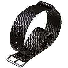 buy G10 Uk Mod Nylon Military Watch Band By Zuludiver, Ipb, Black, 22Mm