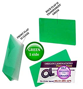 Amazon Com Green Clear Military Card Laminating Pouches