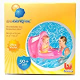 UV CarefulTM 50+ UPF Baby Care Seat (Pink) - Covered Swimming Pool Float