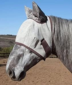 Kensington Natural Collection Fly Mask with Soft Ears, Medium, Grey