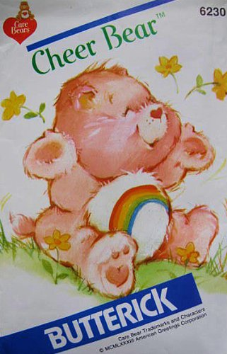 Care Bear Cheer Bear Sewing Pattern Butterick 6230 Vintage 1983 Stuffed Bear front-1065009