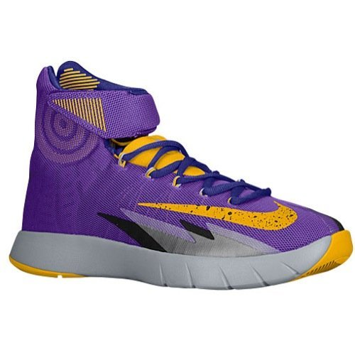 Nike Men's Zoom HyperRev Purple Venom/Wolf Grey/Court Purple/University Gold Sneaker 11.5 D – Medium