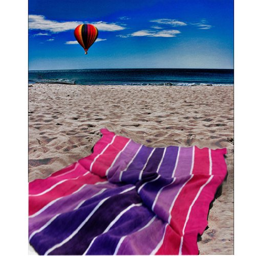 Striped Design 100% Egyptian Cotton Beach Towel / Bath Sheet in Bold Multi Coloured Stripes, Versatile, Supreme Quality with a Soft Touch.