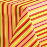 Fiesta Round Tablecloth, 70-Inch, Calypso Stripe, Sunflower