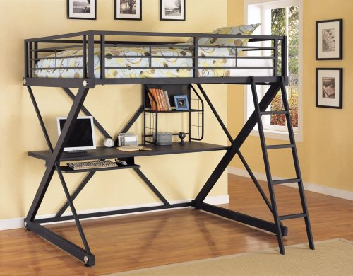 Z-Bedroom Full Size Loft Study Bunk By Powell Furniture