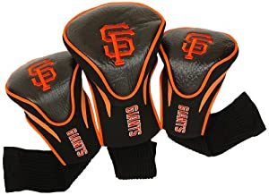 MLB San Francisco Giants Contour Head Cover (Pack of 3), Black by Team Golf