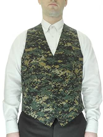 Camouflage Dress Vest for Men, Small