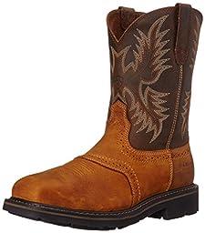 Ariat Men\'s Sierra Wide Square Steel Toe Work Boot, Aged Bark, 10 M US