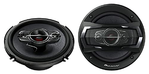 Best 6.5 Speakers - Pioneer TS-A1685R 6.5 Inch Speakers - 1 Pair (6 1/2- 6 3/4 Inch) 350w max 4 Way Voies