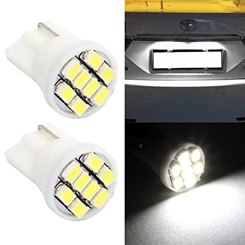 Partsam 2Pcs T10 W5W 8 SMD 3020 Epistar LED License Plate Lights HID Xenon White 194 168 (1999 Nissan Quest Light Cover compare prices)
