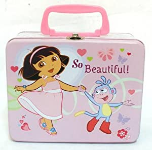 DORA The Explorer Lunch Box School Made Tin Can