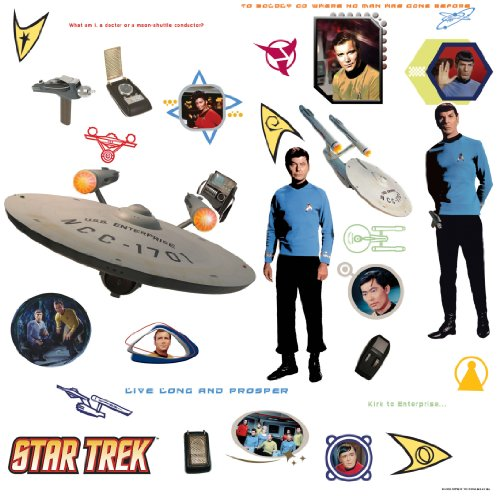 RoomMates RMK1361SCS Star Trek Peel & Stick Wall Decals