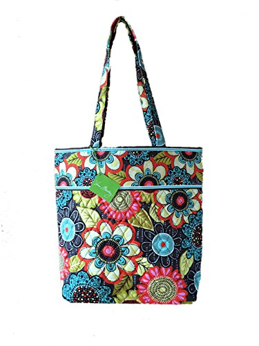vera-bradley-tote-with-solid-color-interior-updated-version-flower-shower-with-solid-green-interior