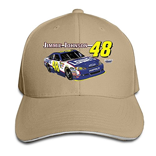 Bang Unisex Nascar Jimmie Johnson Logo regolabile moda cappello da baseball Natural Taglia unica