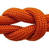 "Paracord - Guaranteed MilSpec C-5040H Compliant, 8-Strand, Type III, Military Survival 550 Parachute Cord. 110 Ft. Hank of ORANGE, Made in the U.S. from 100% Nylon. Includes FREE EBook: ""We Love MilSpec Paracord and So Will You!"" and Your Own Copy of MIL-C-5040H. By Paracord 550 MilSpec (TM)."